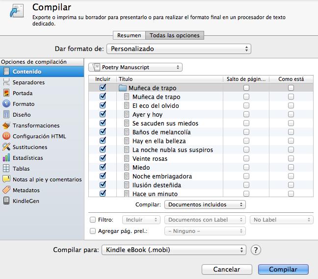 Compilar Scrivener