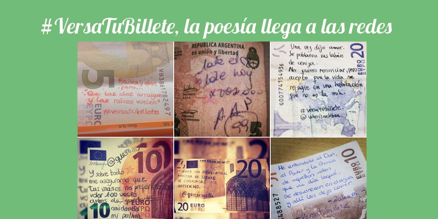 #VersaTuBillete, la poesía llega a las redes sociales