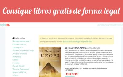 Ebrolis: libros gratis de forma legal en tu correo electrónico