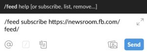 Añadir RSS de Facebook en Slack