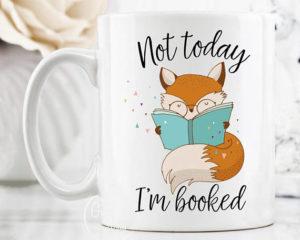 Hoy no, estoy leyendo taza