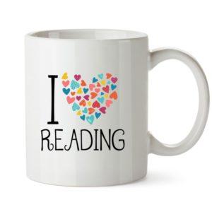 Me gusta leer taza